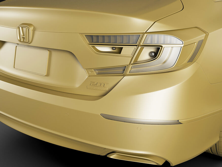 Honda Accord 2018 royalty-free 3d model - Preview no. 19