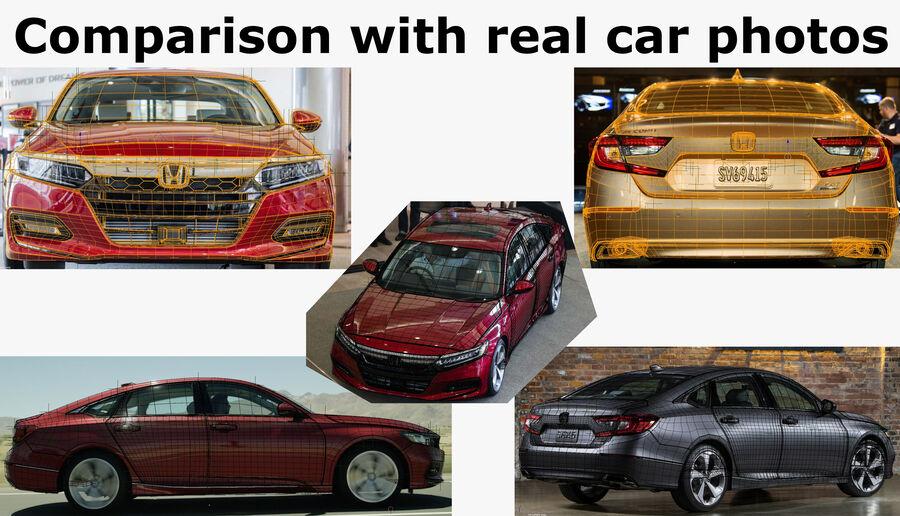 Honda Accord 2018 royalty-free 3d model - Preview no. 22