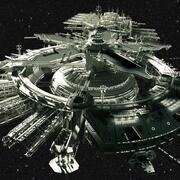 Stacja Kosmiczna Drydock 3d model