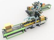 Linha de embalagem automática 3d model