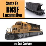Santa Fe BNSF EMD 3d model