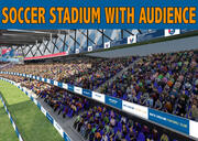 Soccer Stadium with Audience 3d model