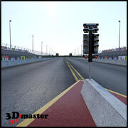 Dra racingbanan 3d model