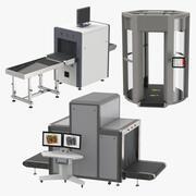 Röntgentransportband en volledige lichaamsscanner 3d model
