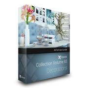 CGAxis Models Volume 83 Decorations 3d model