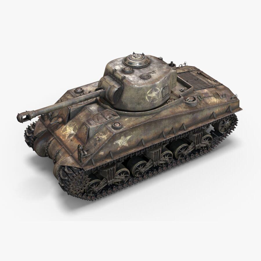 Sherman Tank royalty-free 3d model - Preview no. 1