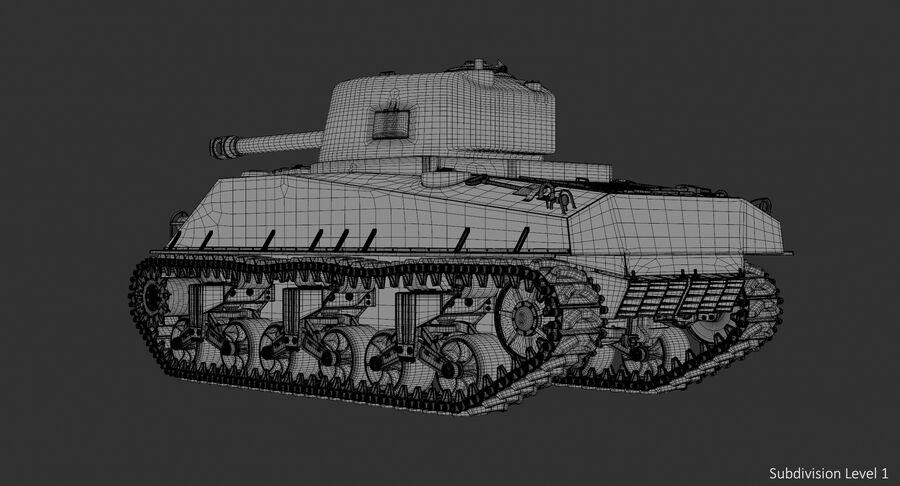 Sherman Tank royalty-free 3d model - Preview no. 18
