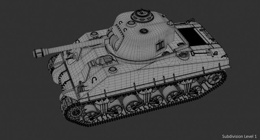 Sherman Tank royalty-free 3d model - Preview no. 20