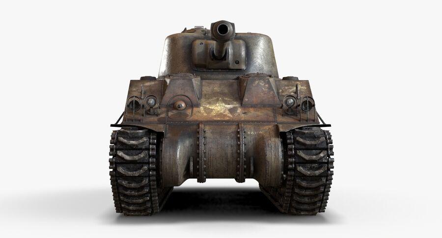 Sherman Tank royalty-free 3d model - Preview no. 10
