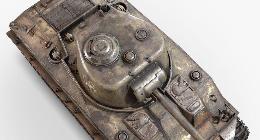 Sherman Tank royalty-free 3d model - Preview no. 11