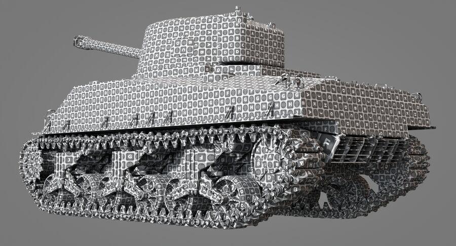 Sherman Tank royalty-free 3d model - Preview no. 35