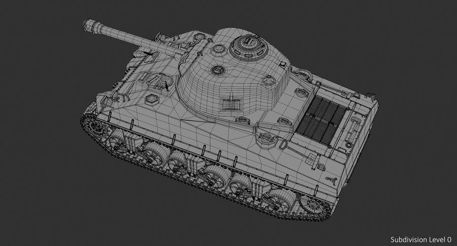 Sherman Tank royalty-free 3d model - Preview no. 15