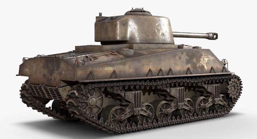 Sherman Tank royalty-free 3d model - Preview no. 7