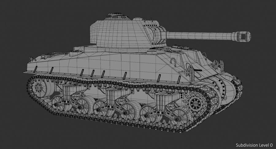 Sherman Tank royalty-free 3d model - Preview no. 23