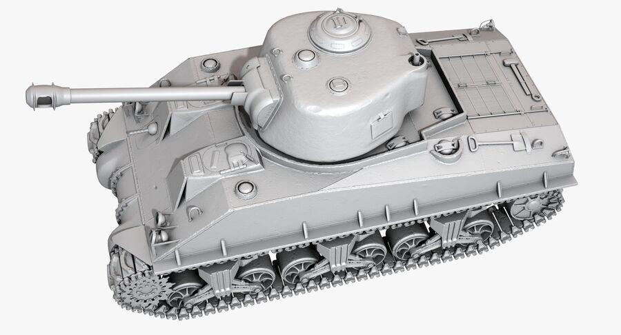 Sherman Tank royalty-free 3d model - Preview no. 29