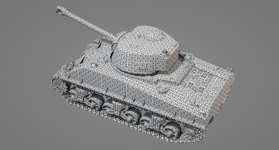 Sherman Tank royalty-free 3d model - Preview no. 32