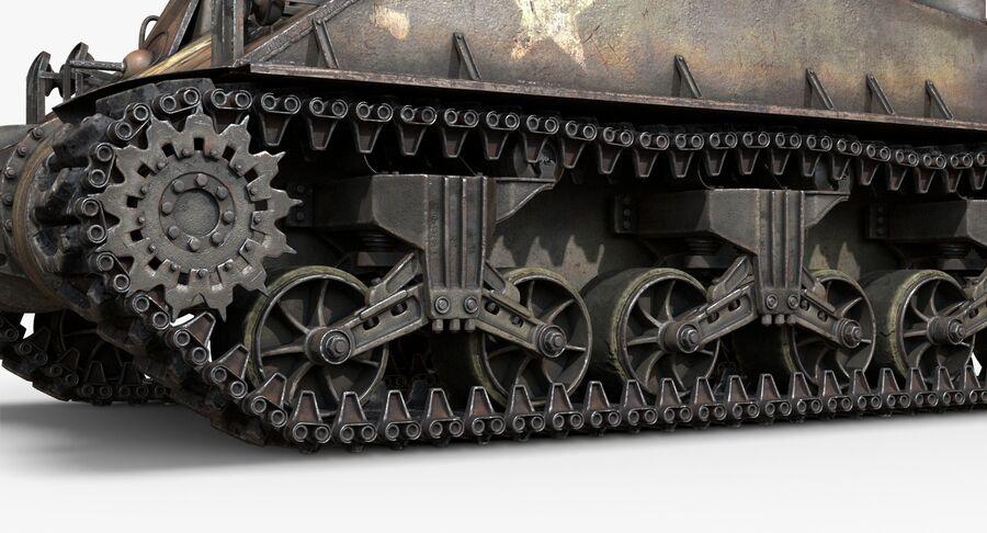 Sherman Tank royalty-free 3d model - Preview no. 13