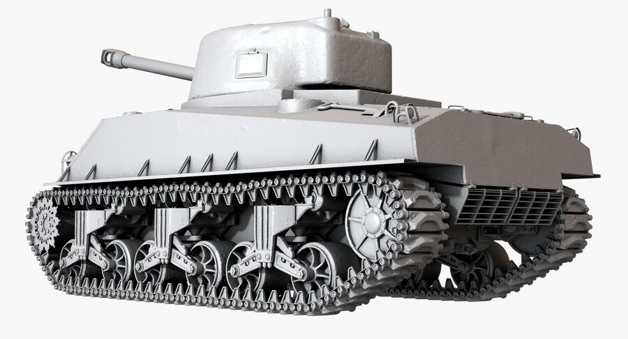Sherman Tank royalty-free 3d model - Preview no. 28