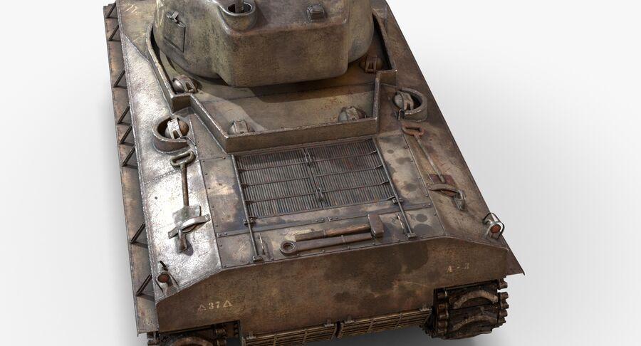 Sherman Tank royalty-free 3d model - Preview no. 12