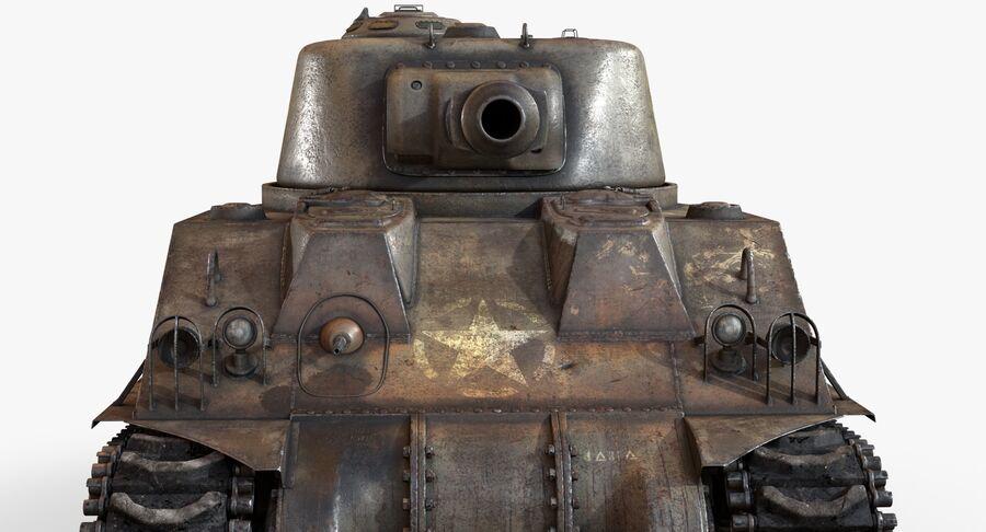 Sherman Tank royalty-free 3d model - Preview no. 14