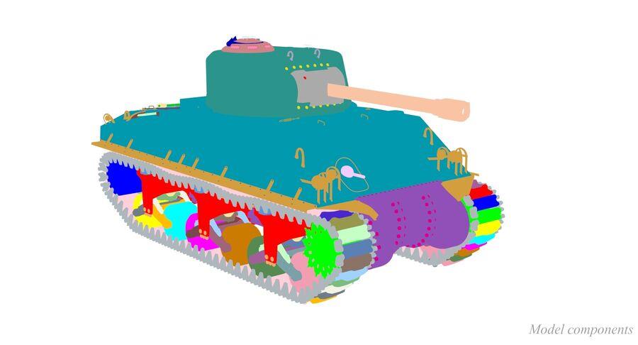 Sherman Tank royalty-free 3d model - Preview no. 39