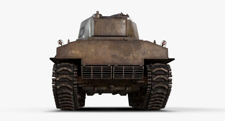 Sherman Tank royalty-free 3d model - Preview no. 8