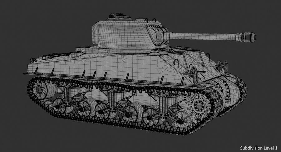 Sherman Tank royalty-free 3d model - Preview no. 24