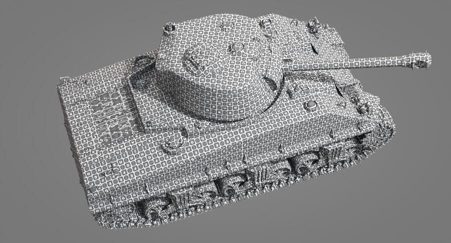Sherman Tank royalty-free 3d model - Preview no. 33
