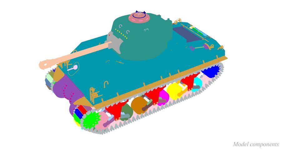 Sherman Tank royalty-free 3d model - Preview no. 40