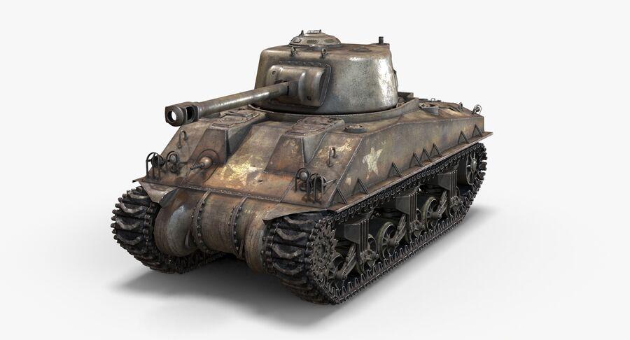 Sherman Tank royalty-free 3d model - Preview no. 4