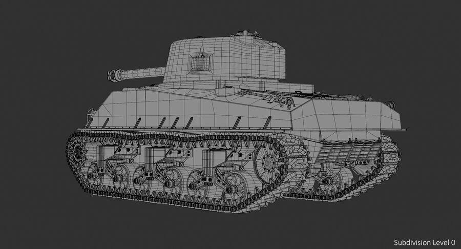 Sherman Tank royalty-free 3d model - Preview no. 17