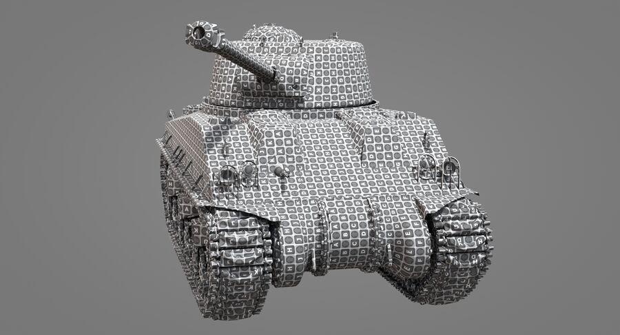 Sherman Tank royalty-free 3d model - Preview no. 36