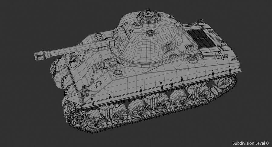 Sherman Tank royalty-free 3d model - Preview no. 19