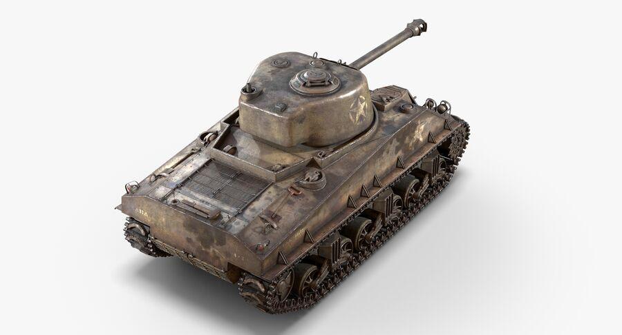 Sherman Tank royalty-free 3d model - Preview no. 6