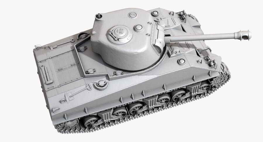 Sherman Tank royalty-free 3d model - Preview no. 30