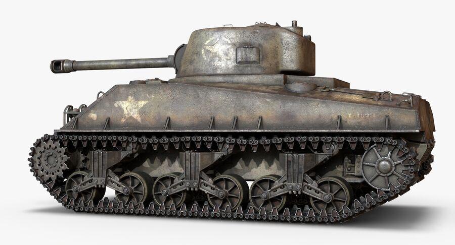 Sherman Tank royalty-free 3d model - Preview no. 9
