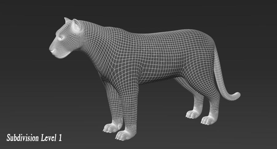 Animado de tigre (pele) royalty-free 3d model - Preview no. 14