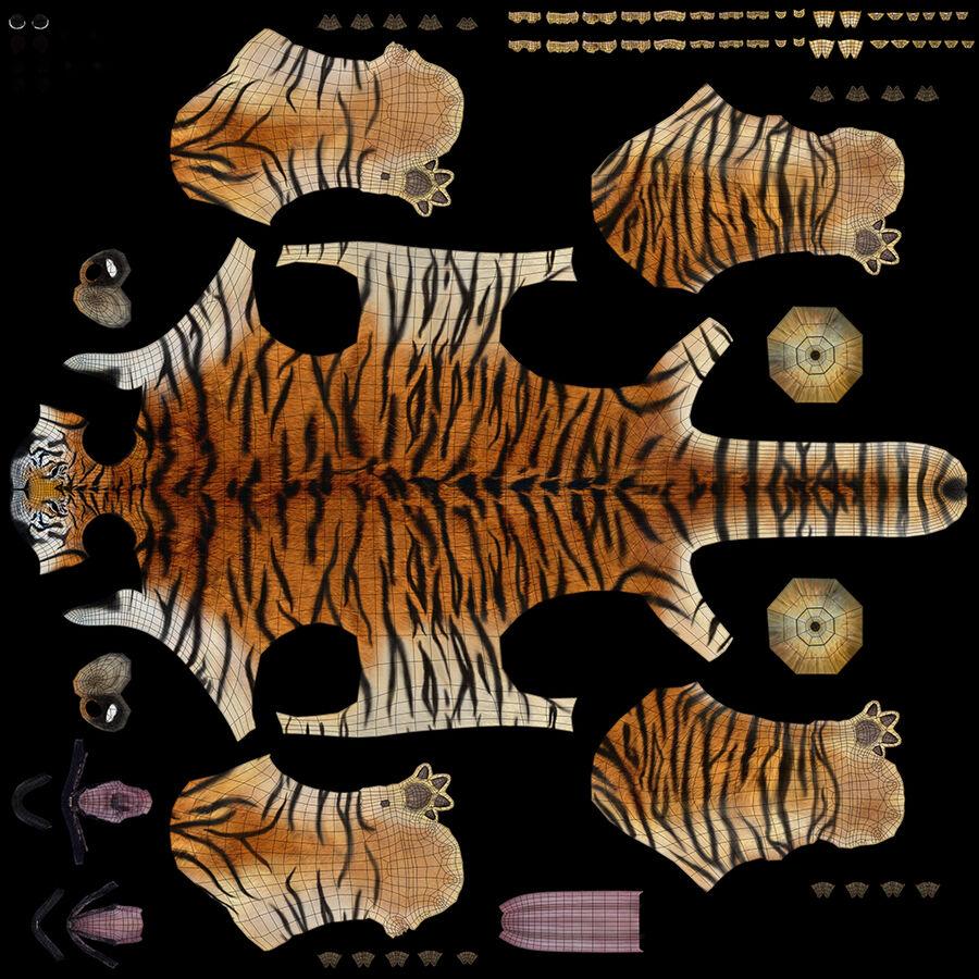 Animado de tigre (pele) royalty-free 3d model - Preview no. 17