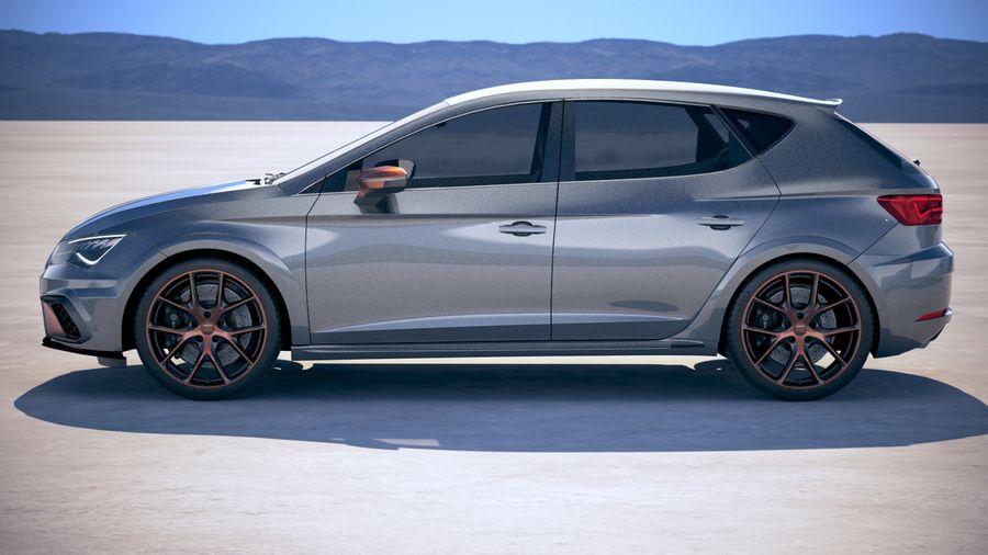 Seat Leon Cupra R 2018 royalty-free 3d model - Preview no. 7