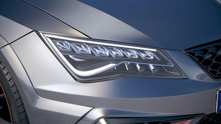 Seat Leon Cupra R 2018 royalty-free 3d model - Preview no. 16