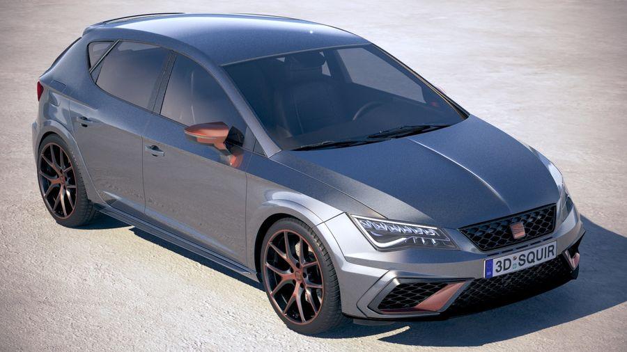 Seat Leon Cupra R 2018 royalty-free 3d model - Preview no. 12