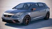 Seat Leon Cupra R 2018 3d model