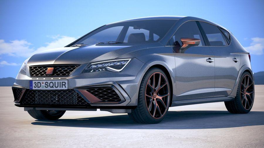 Seat Leon Cupra R 2018 royalty-free 3d model - Preview no. 13