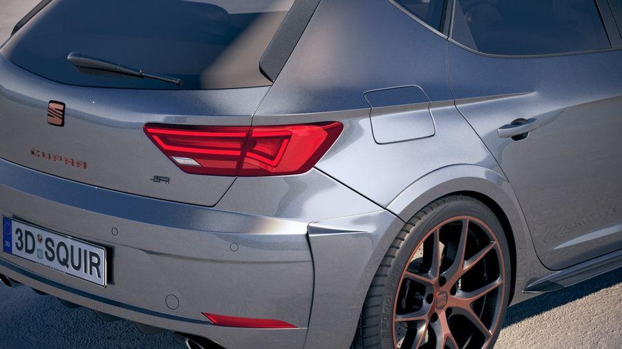 Seat Leon Cupra R 2018 royalty-free 3d model - Preview no. 4