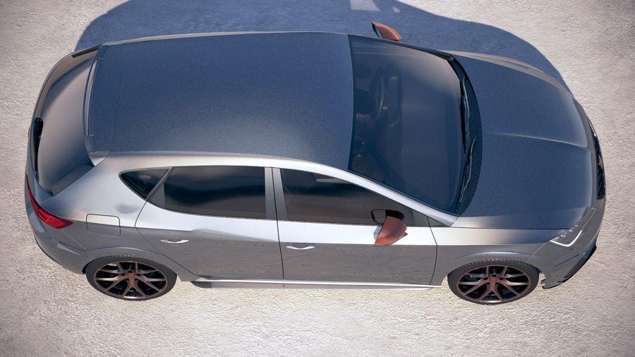 Seat Leon Cupra R 2018 royalty-free 3d model - Preview no. 8