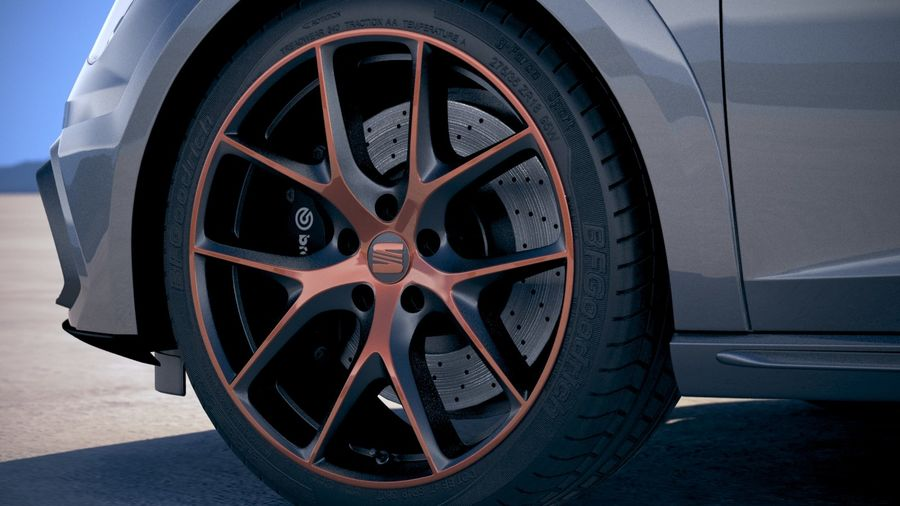 Seat Leon Cupra R 2018 royalty-free 3d model - Preview no. 15