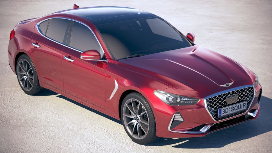 Genesis G70 2018 royalty-free 3d model - Preview no. 12