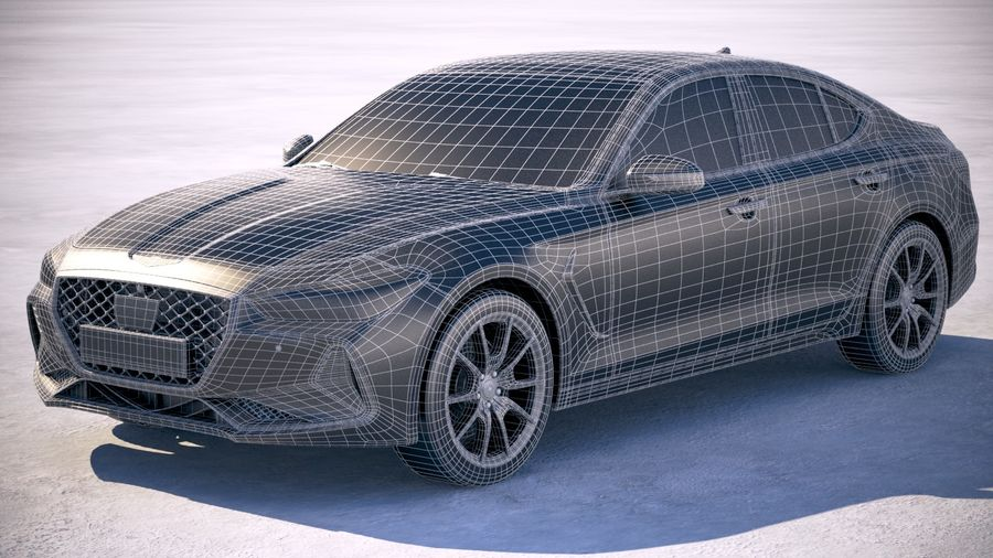 Genesis G70 2018 royalty-free 3d model - Preview no. 20