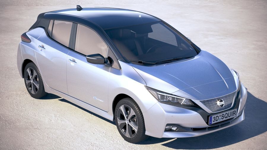 Nissan Leaf 2018 royalty-free 3d model - Preview no. 12