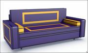 Sofá de pele V1 3d model